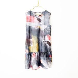 SILK SPACE ART bb dakota shift mini tunic dress xs